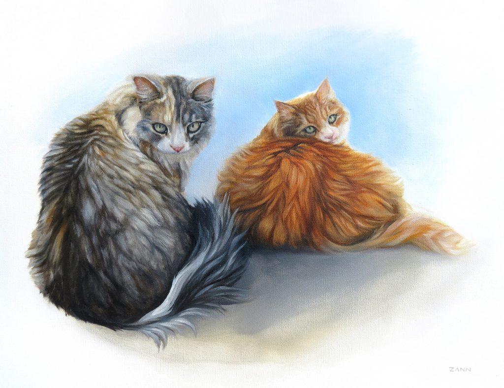 Cat Painting Cat Memorial Pet Art