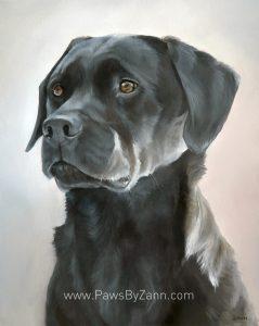 Black Lab Painting by Zann Hemphill