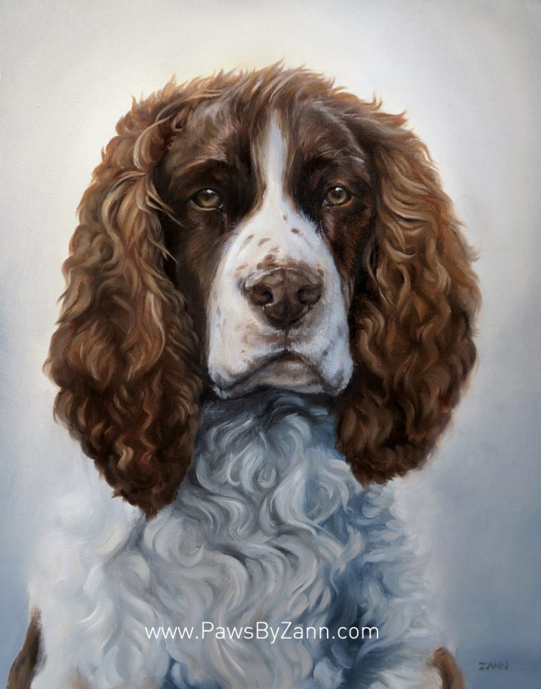 Spaniel Dog Painting Art Commission