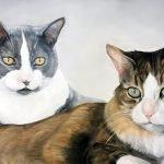 Cat memorial art