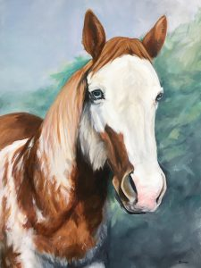 Horse Painting in Oil Pet Portrait from Photo