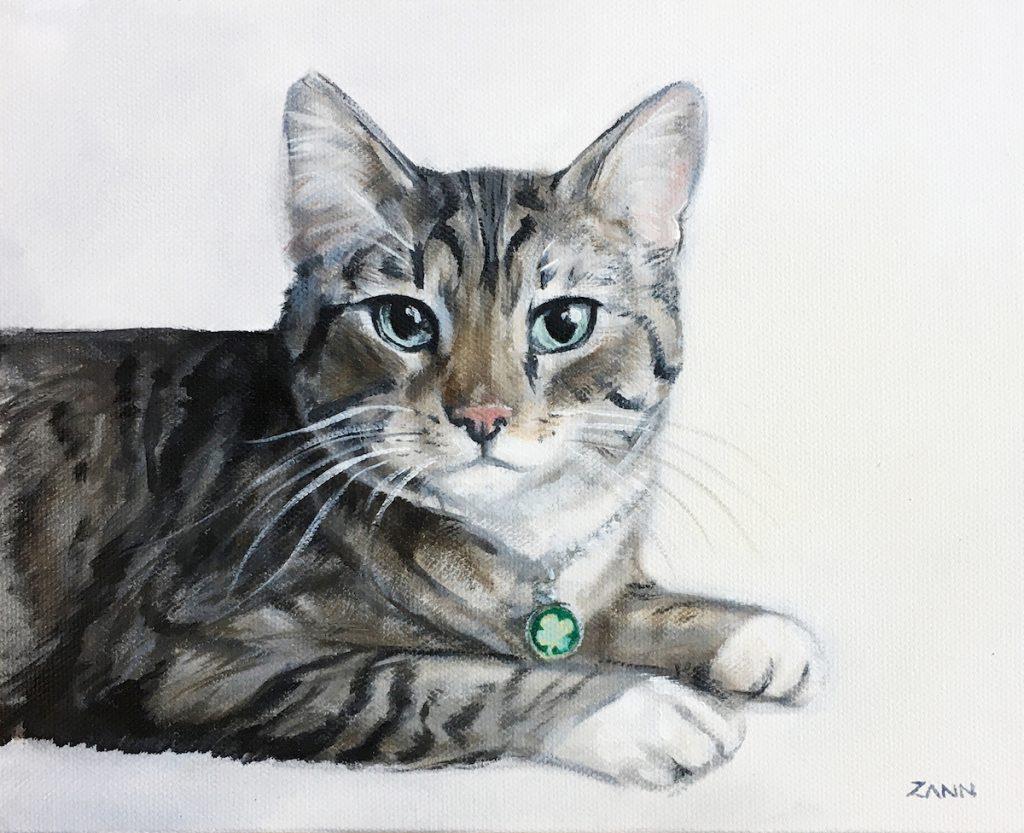 Cat portrait by Zann