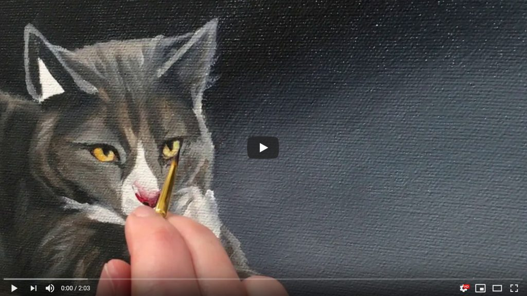 cat portrait cat eye painting video cover
