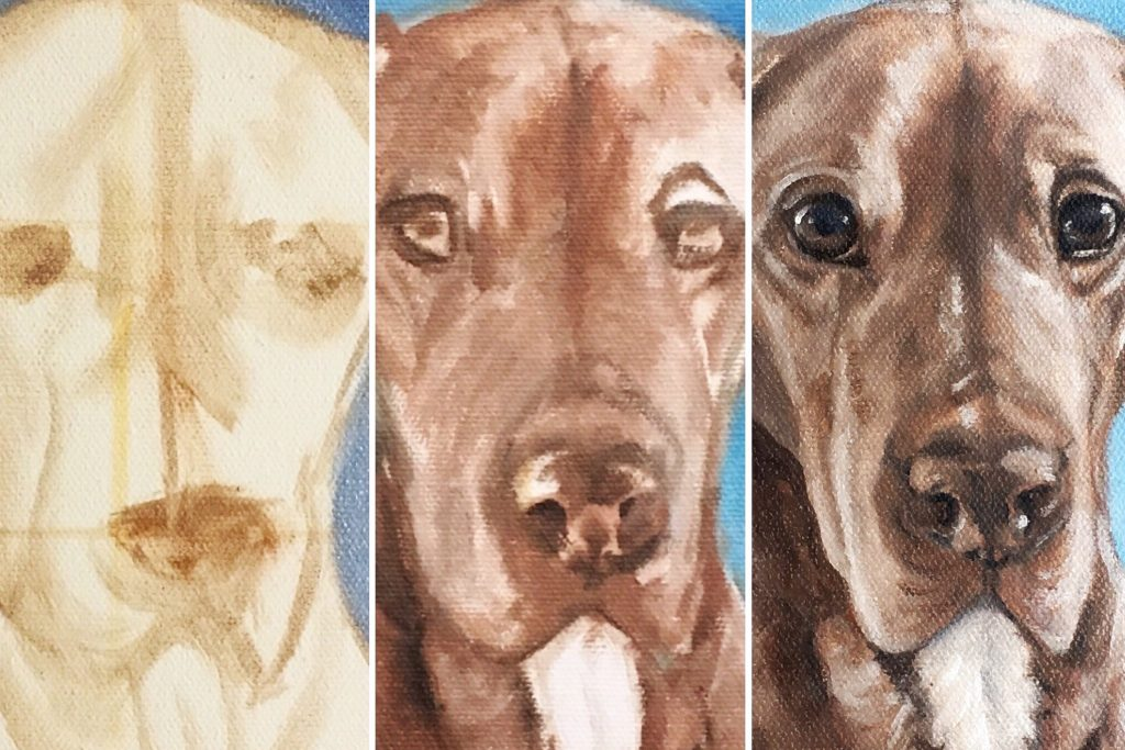 pet memorial portrait painting