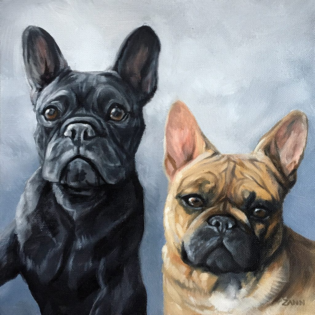 Pet Portrait from Photo of two dogs