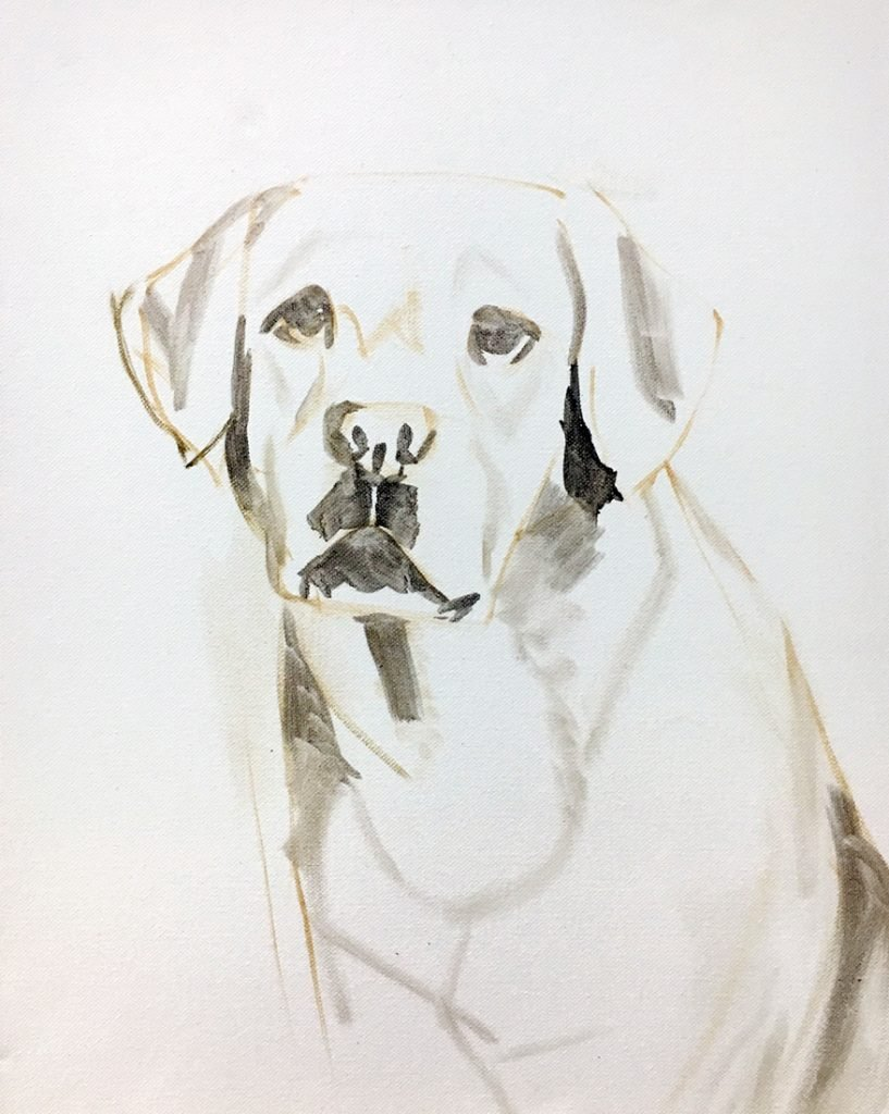 dog sketch portrait