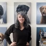 Zann Hemphill pet portrait artist studio