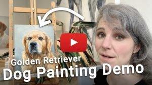 how to paint a golden retriever dog video