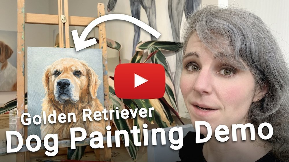 how to paint a golden retriever dog video