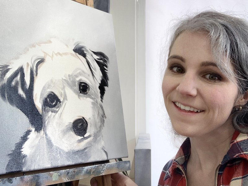 Custom Dog Portrait Art by Zann