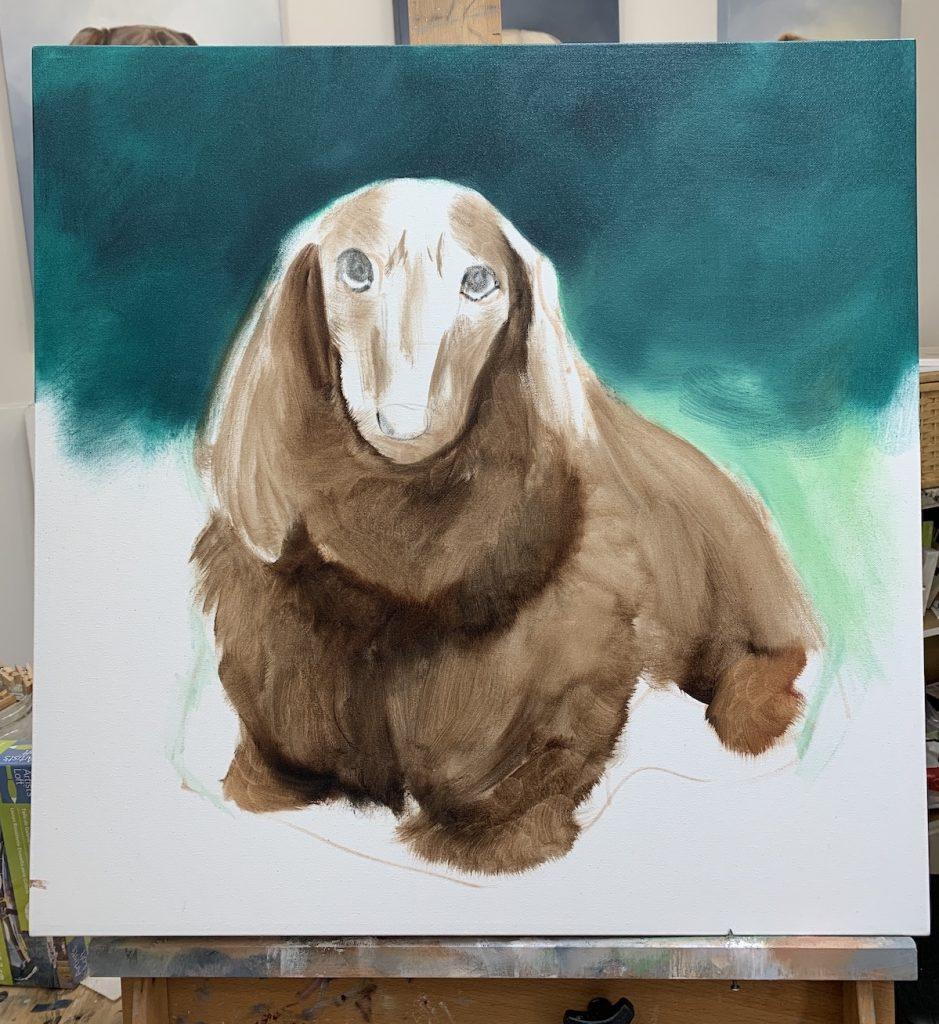 pet portrait painting simple lighting process
