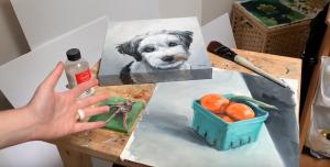 glazing or varnishing oil paintings