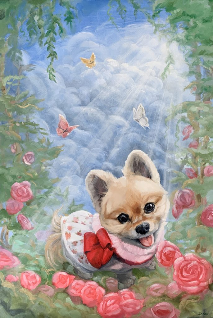 Angelic Heavenly Pet Memorial Painting
