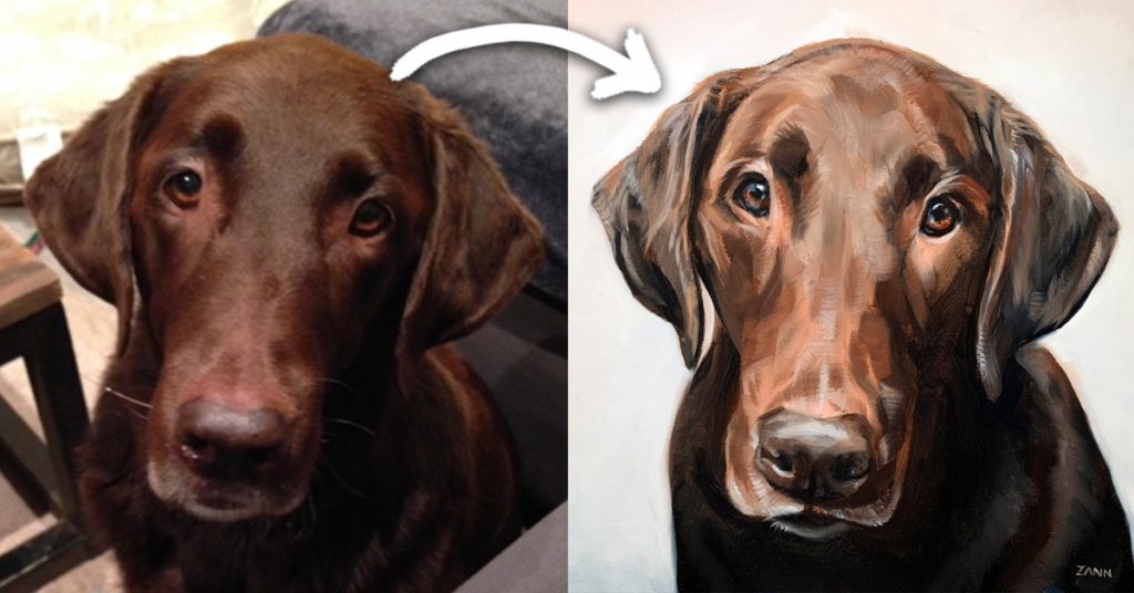 Labrador retriever Oil Painting