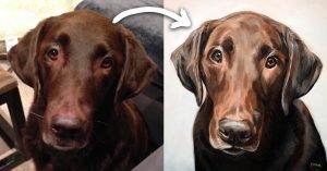 Labrador retriever Oil Painting