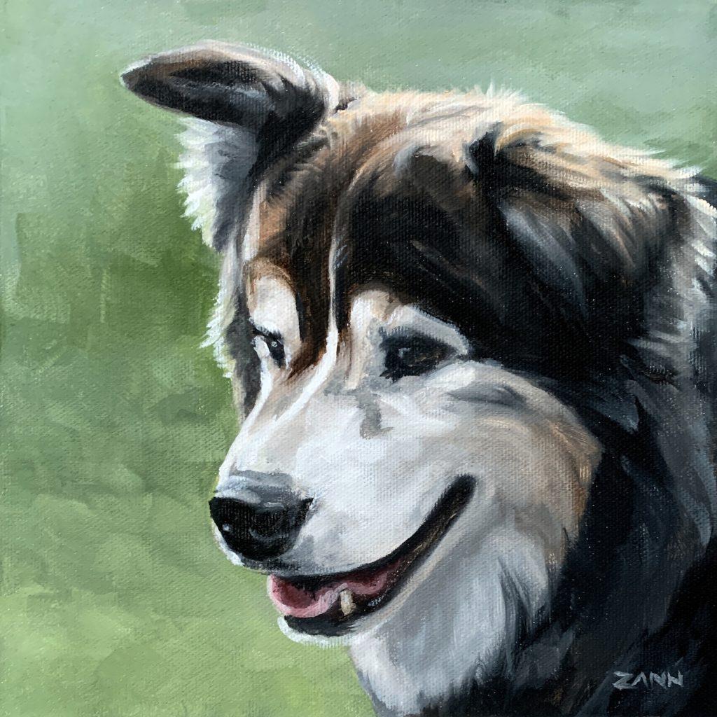 Pet Portrait Christmas Gift of Dog