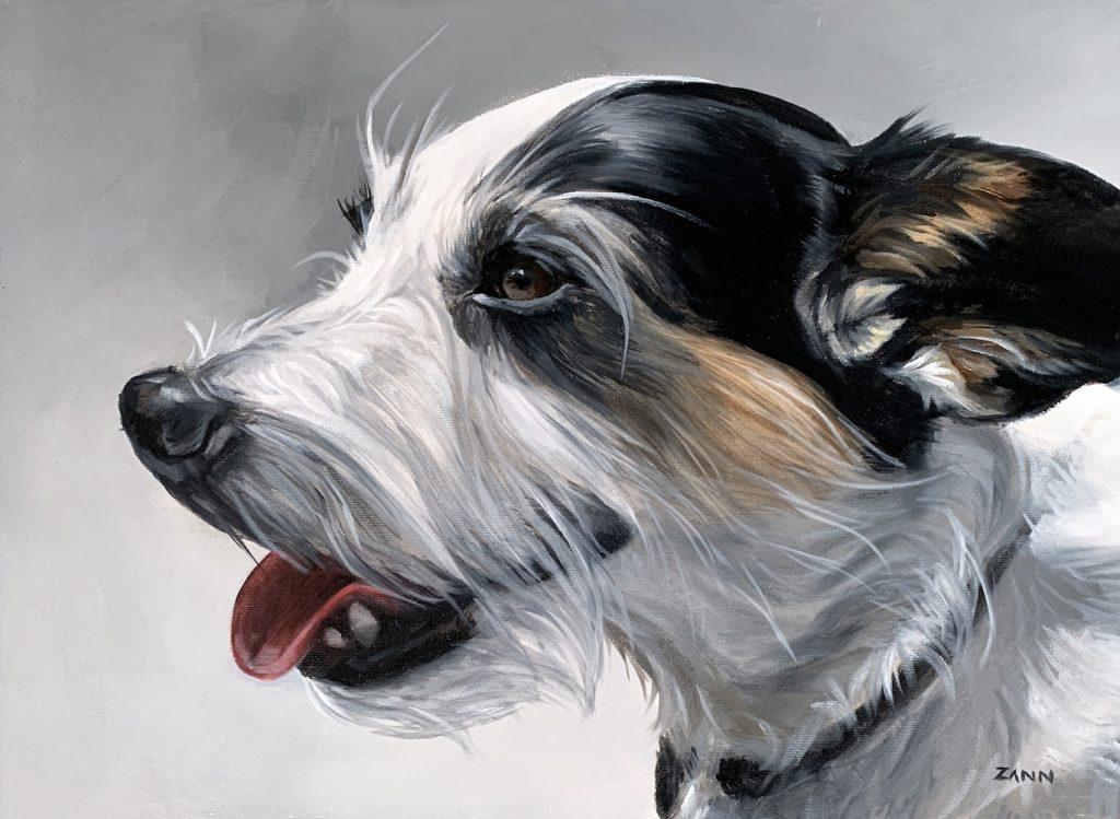 Jack Russell Terrier Art Painting by Zann Hemphill