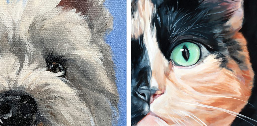 Pet Painting in Oil Sizes