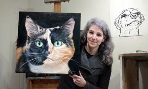 Pet Portrait Painter Artist Zann Hemphill