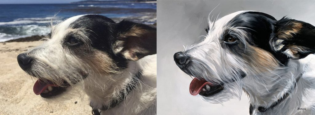 pet painting reference photo