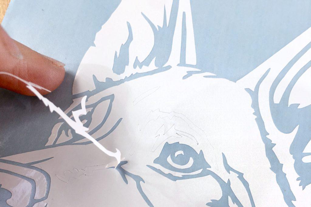 Peeling Dog Decal