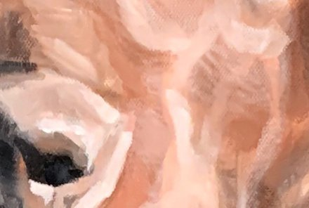 Dog Oil Painting Nose Close Up