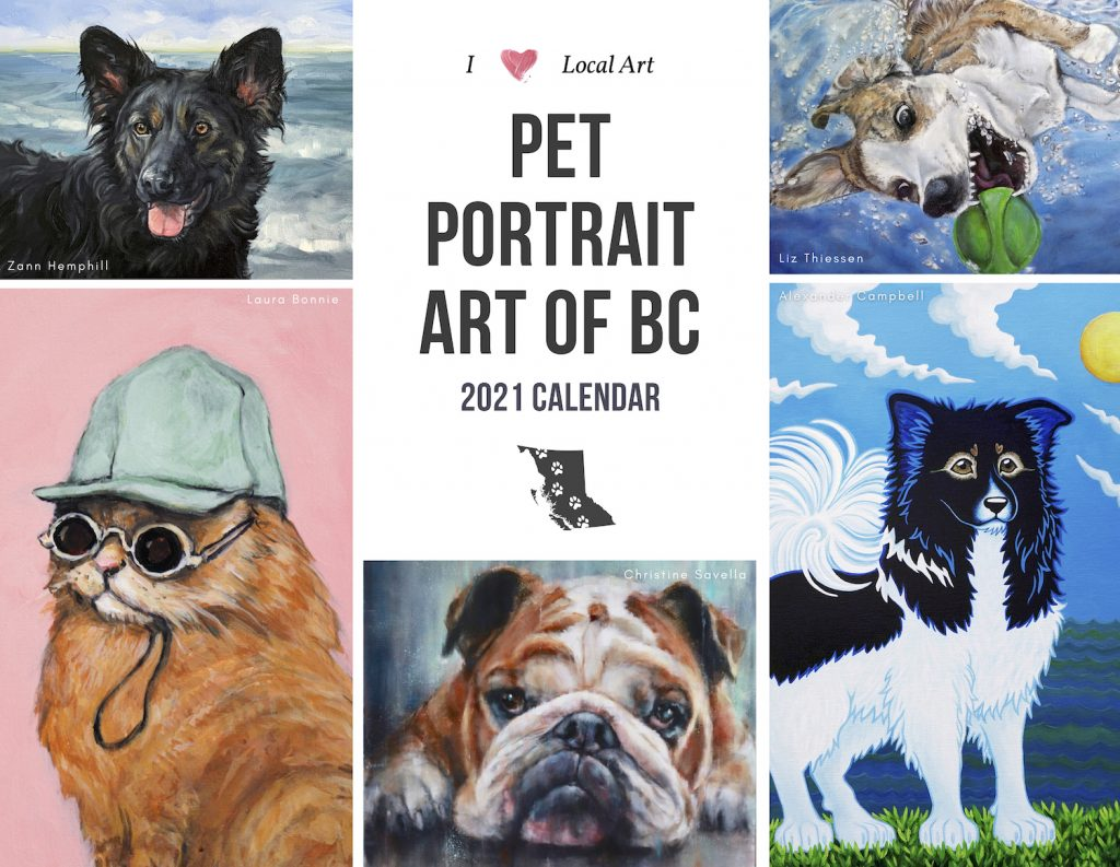 2021 Pet Portrait Art of BC Calendar