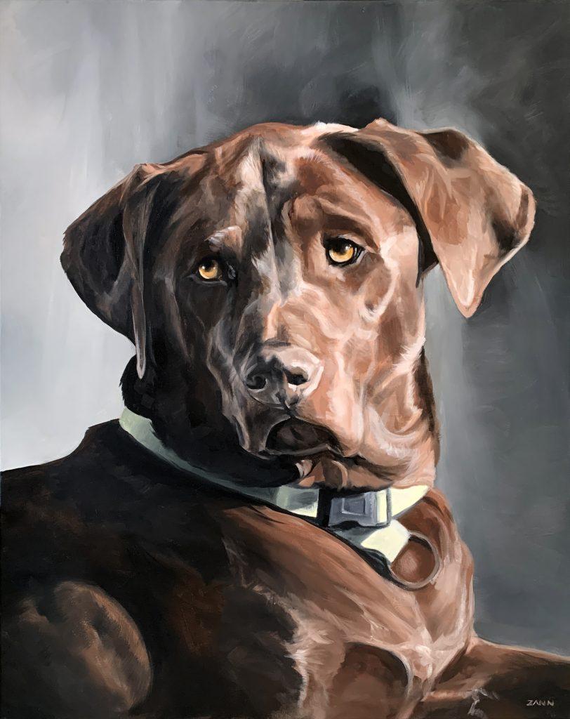 Dog Oil Painting Portrait