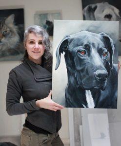 Canadian Dog Portrait Artist