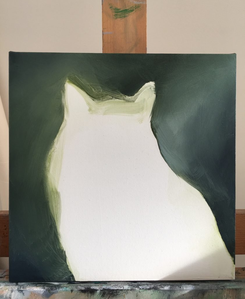 Cat Oil Painting Background sketch oil on canvas