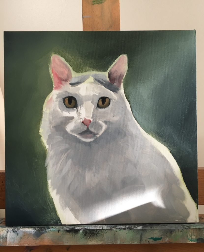 Cat Oil Painting Process