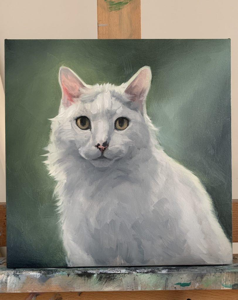 Feline Oil Painting Process