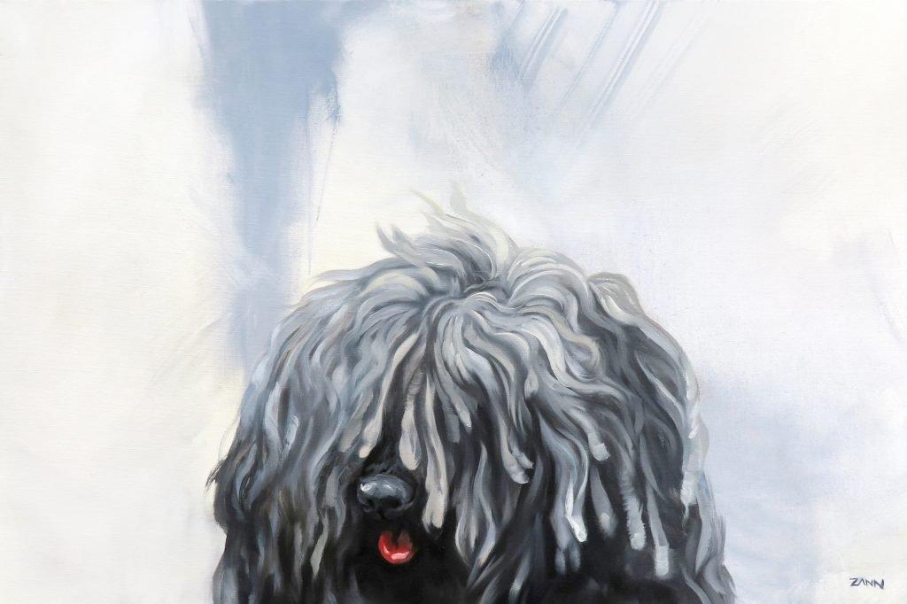 Puli Dog Painting Artwork Original Oil