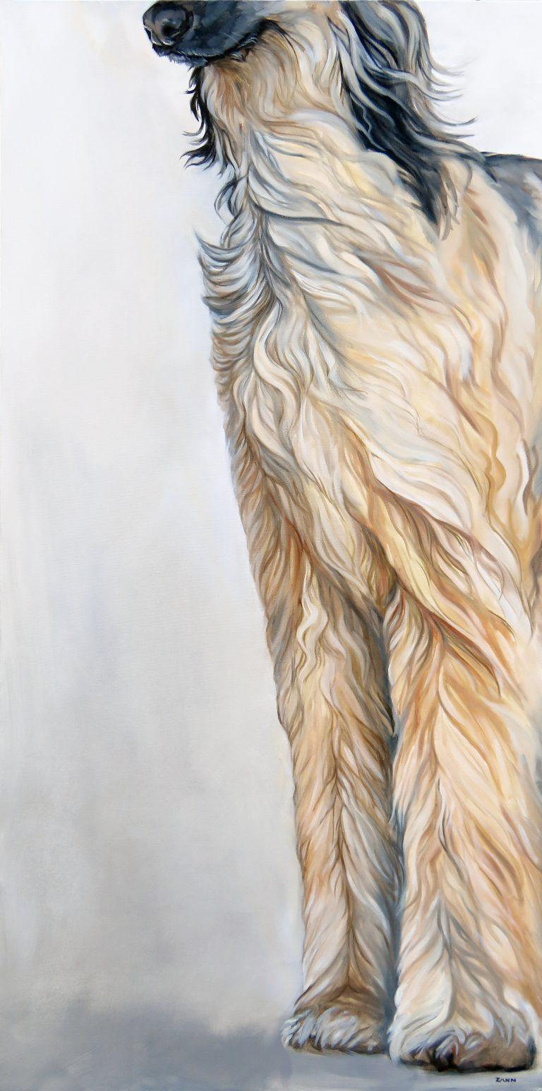 Afghan Hound Oil Painting