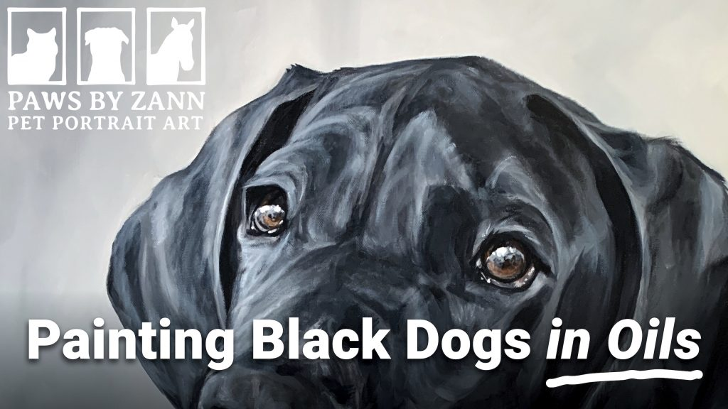 Painting black dogs buddy great dane video