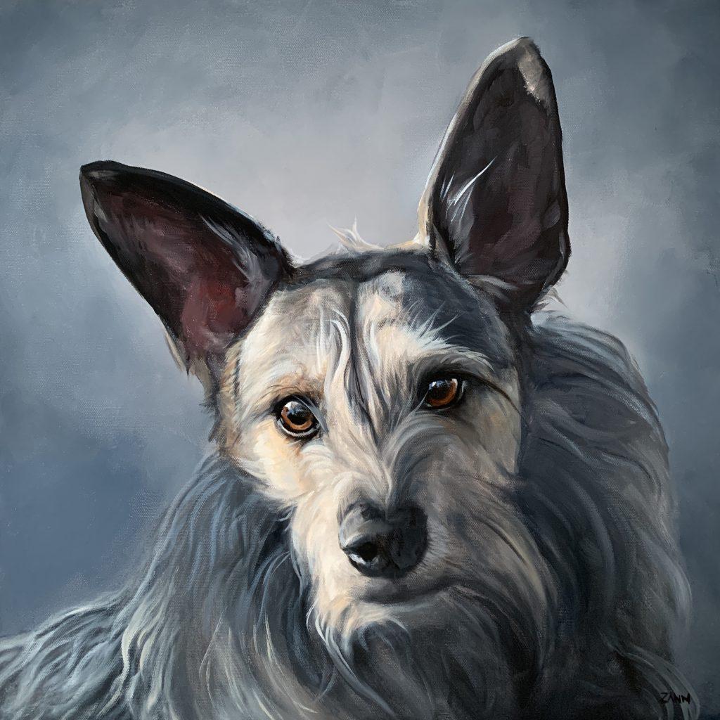 Big Pet Portrait Art Large Oil Painting of a dog