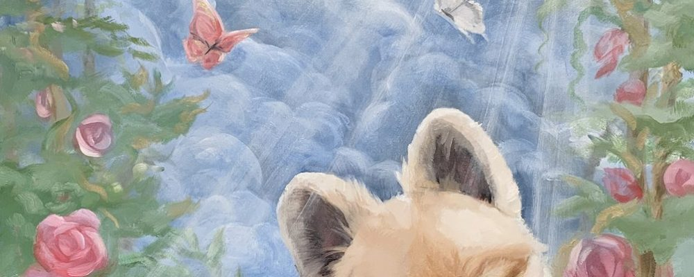 Angelic Heavenly Pet Memorial Painting