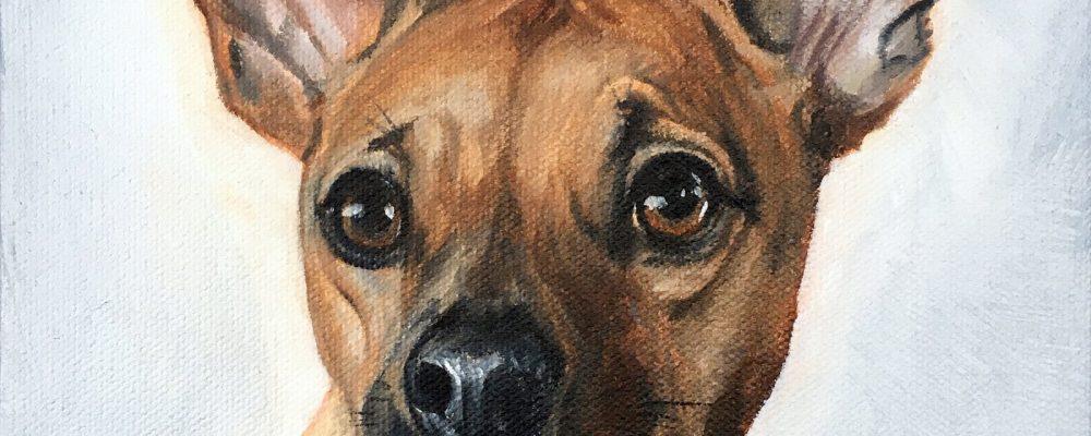 Nixon Dog Painting