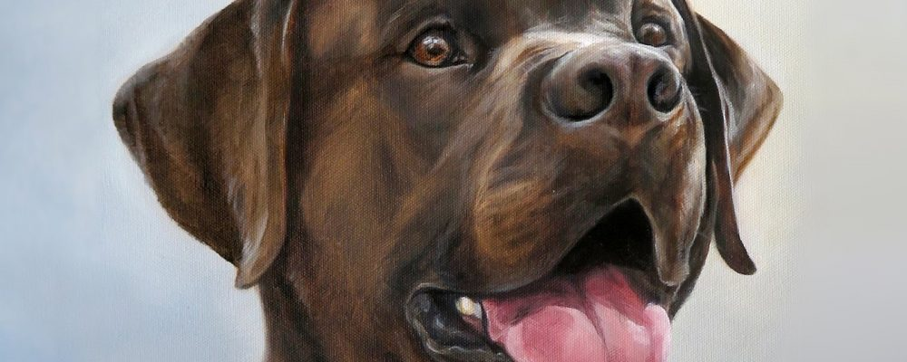Happy Dog Art Chocolate Lab Retriever