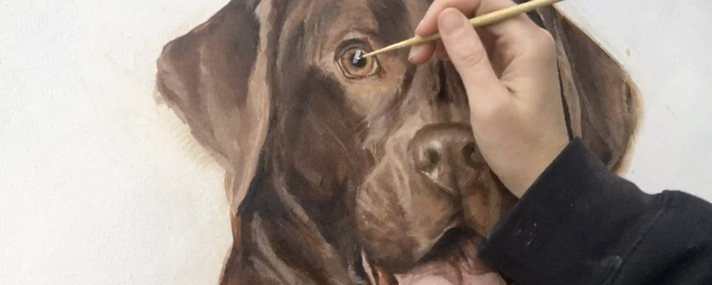 Zann Painting Perlie
